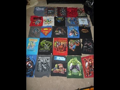 Making a T Shirt Quilt - Tips - Ideas - How To - Avengers - Pooh - Sports - Warner Bro - Snoopy Etc