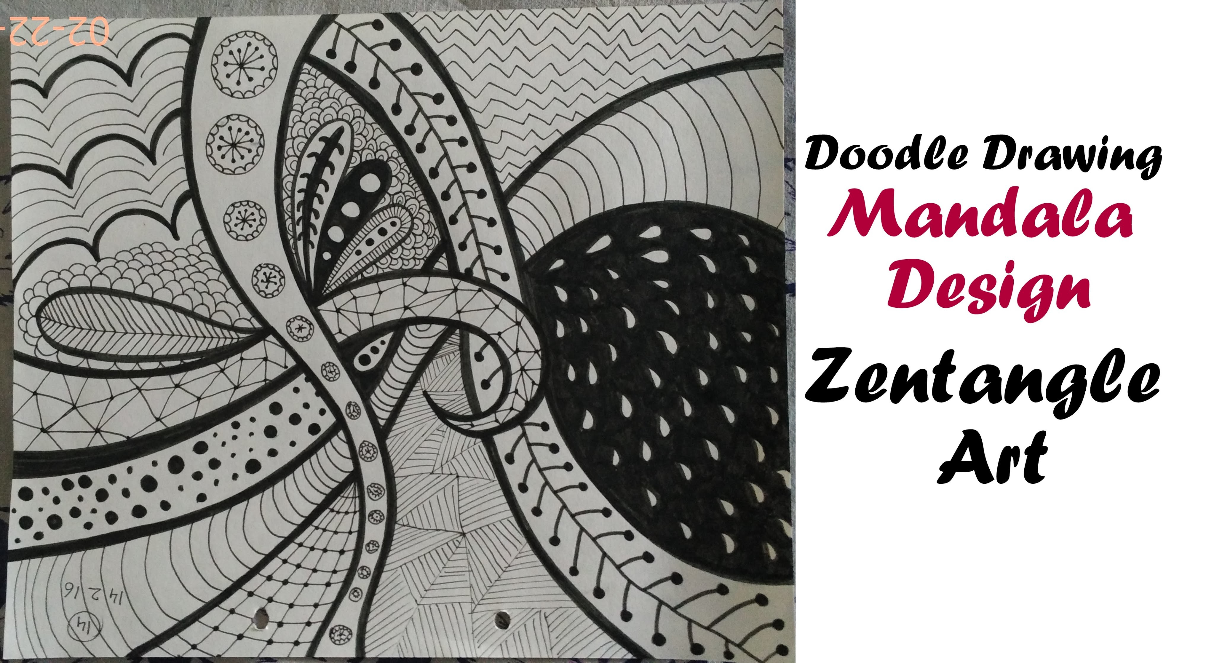 Mandala Art Tutorial for Beginners, How To Draw Zentangle Design, Easy Doodle Drawing step by step