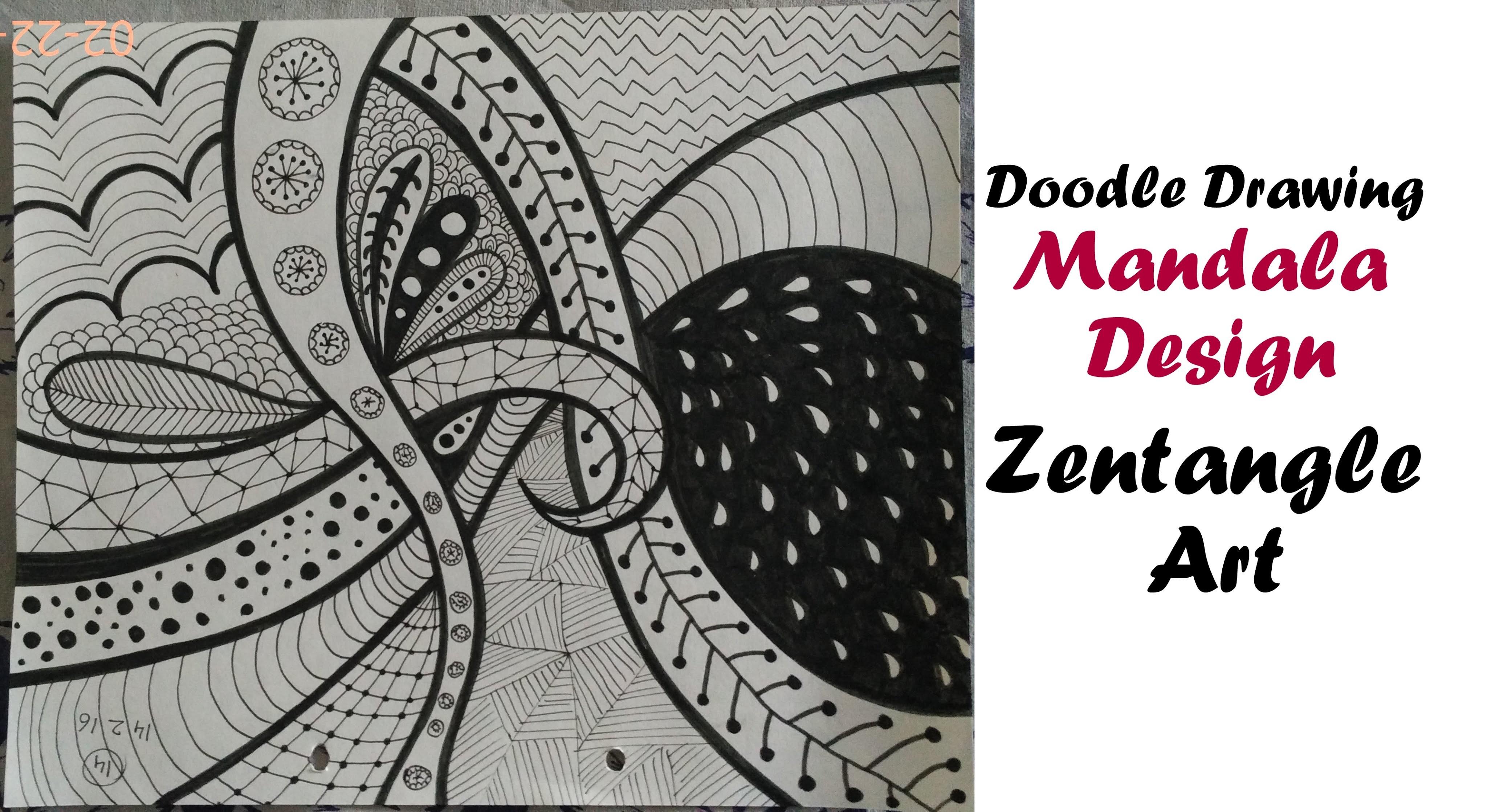 Mandala Art Tutorial For Beginners How To Draw Zentangle Design