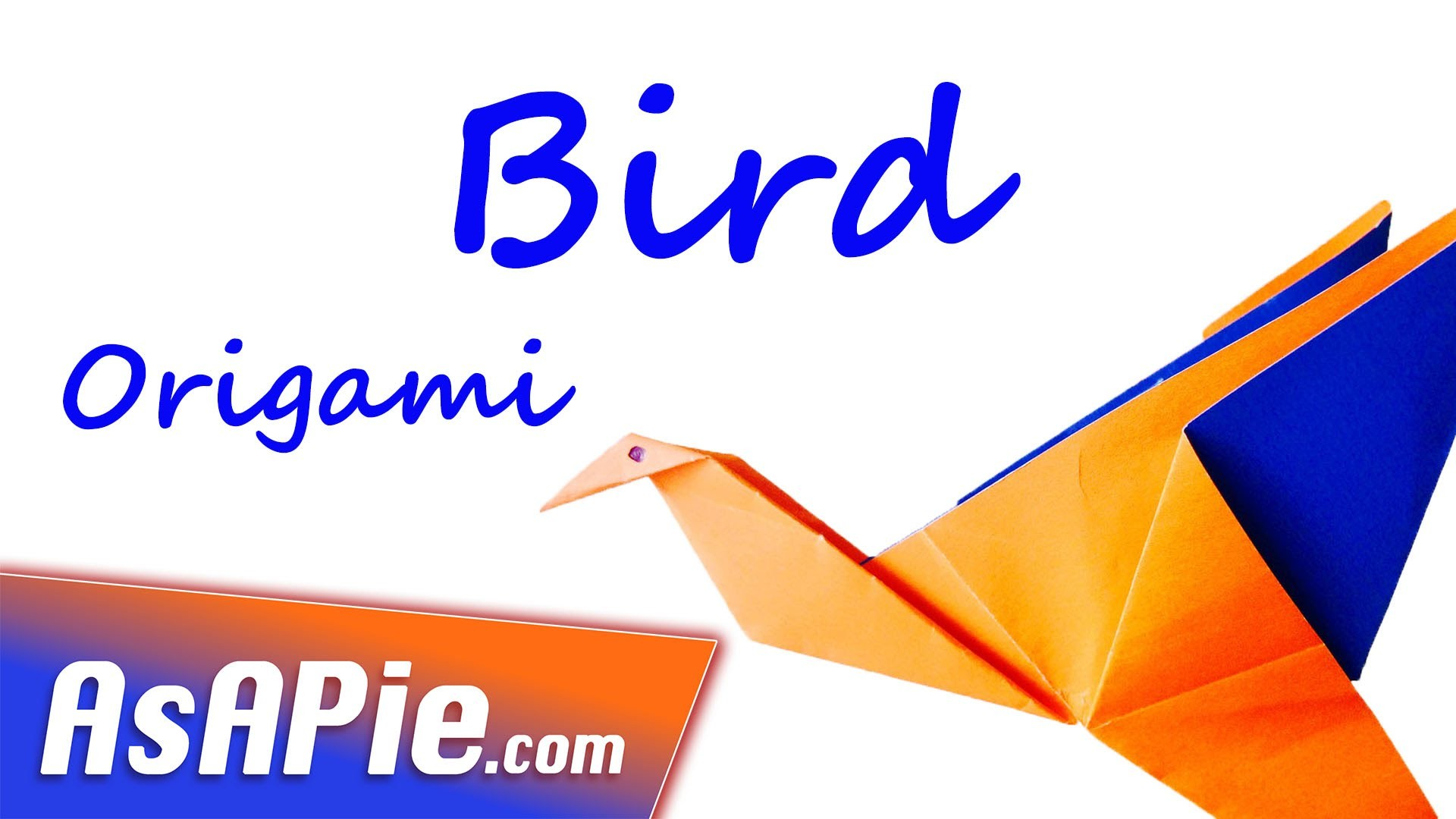 Origami bird instruction