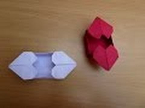 Origami Tutorial - How to make an origami Heart Box