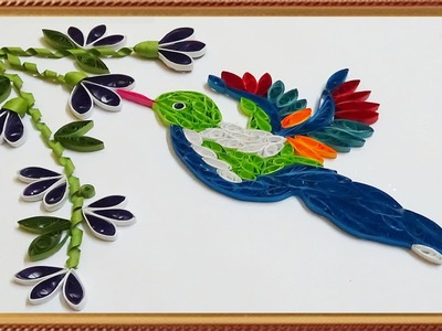 Paper Quilling; Made Easy # How to make a beautiful Hummingbird
