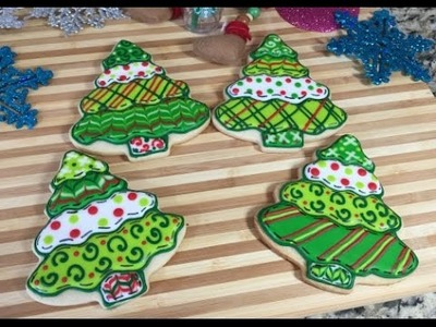 Patchwork Christmas Tree Cookies(How To)