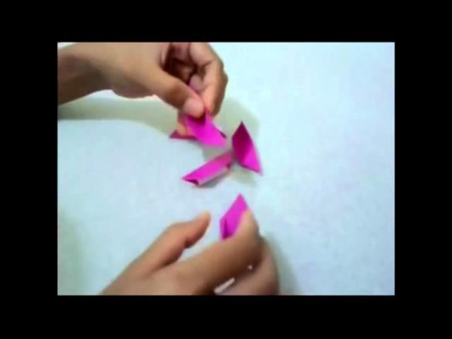 Simple origami Sakura flower   How to make simple origami Sakura very easy