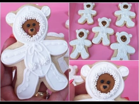 Baby Teddy Bear In Pajama Cookie, Baby Shower(How To)