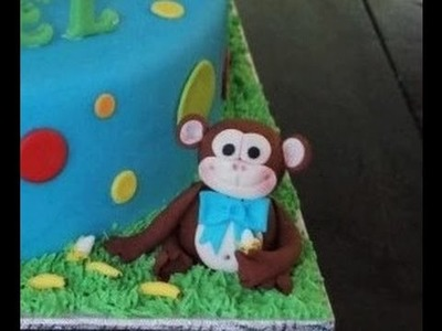 Cake decorating - how to make a monkey cake topper