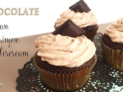 Chocolate Italian Meringue Buttercream | How to make from Creative Cakes by Sharon
