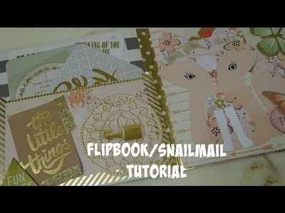 Flip Book.Snail Mail Tutorial & How To Easily Secure Your Washi Binding
