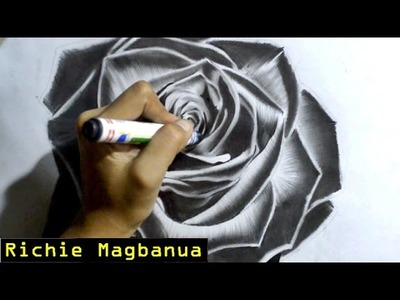 How I Draw a Realistic Black Rose | Time-lapse
