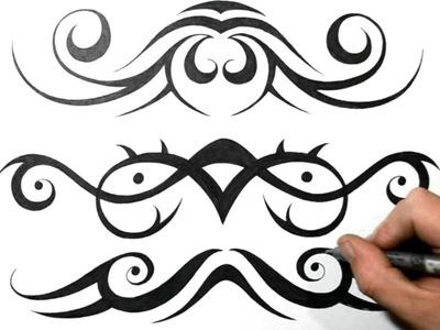 How I Draw Tribal Lowerback Tattoo Designs