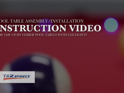 How to assemble.install MDF Pool Table (LED) from T&R Sports (trsports tr-sports)?