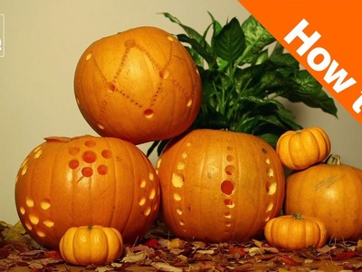 How to Carve Halloween Pumpkin Lanterns with a Drill