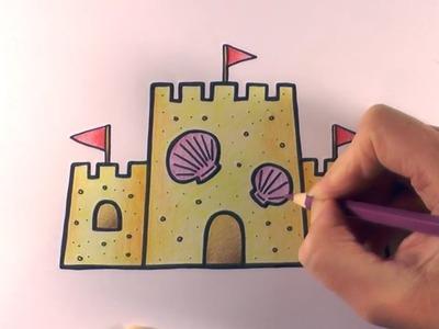 How to Colour a Cartoon Sandcastle