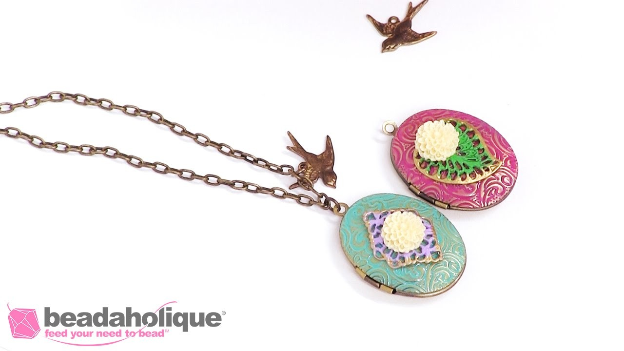 How to Create a Colorful Shabby Chic Locket
