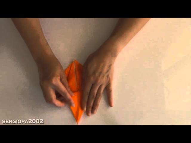 How to create a crane bird with paper using origami fast and easy