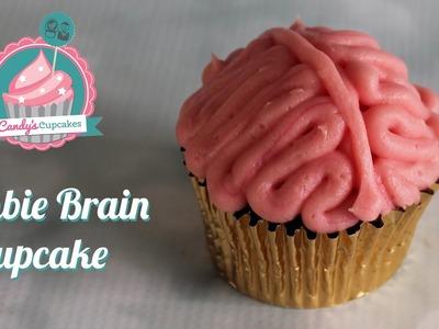 How to create a Zombie Brain Cupcake for Halloween