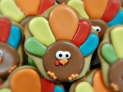 How to Decorate a Turkey Cupcake Cookie
