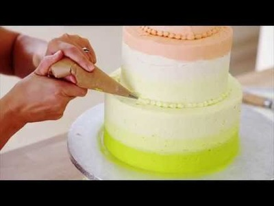 How to decorate an Ombre Cake | Baking Mad