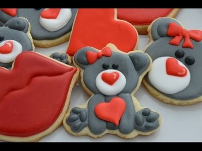 How To Decorate Valentine's Bear Cookies
