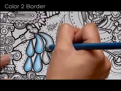 How to do a gradient with color pencils