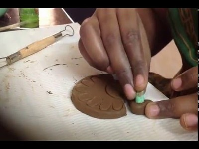 How to do peacock design in terracotta Jewellery