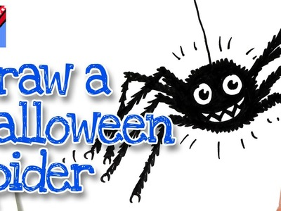 How to draw a Cartoon Google Eyed spider Real Easy