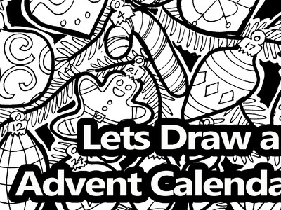 How to Draw a Christmas Tree with Ornaments Advent Calendar - Narrated Tutorial