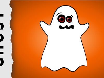 How to draw a Halloween Ghost — Wie zeichnet man ein Geist