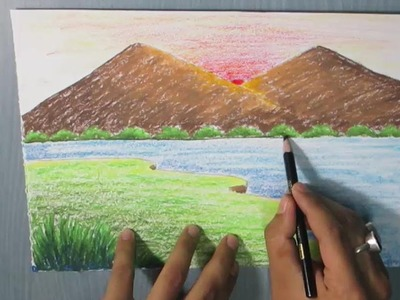 How to Draw a Mountain Landscape for Kids easy