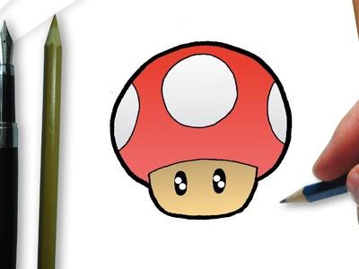 How to draw a mushroom Super Mario Bros