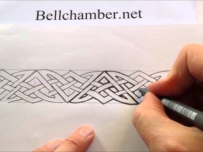 How to Draw Celtic Patterns 131 - Pictish border interlace Part 4 of 5