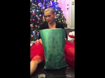 How to gift wrap a blanket part 1