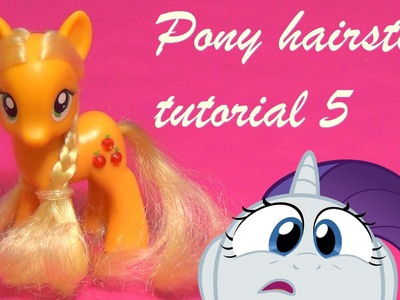 How to give Applejack a super cute hairstyle makeover - My Little Pony (MLP FIM) tutorial 5