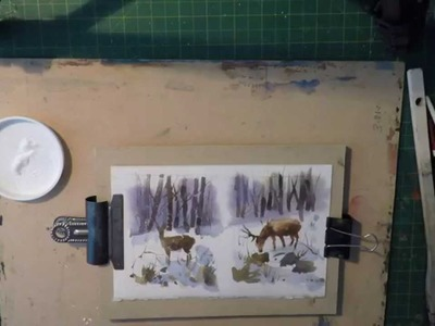 How to Hand Paint Watercolour Seasonal Greetings Cards