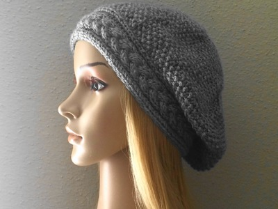 How To Knit A Braid With Seed Stitch Hat, Lilu's Knitting Corner Video # 56
