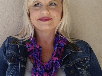 How to Knit Picot Flowers and Icord to make a necklace cowl