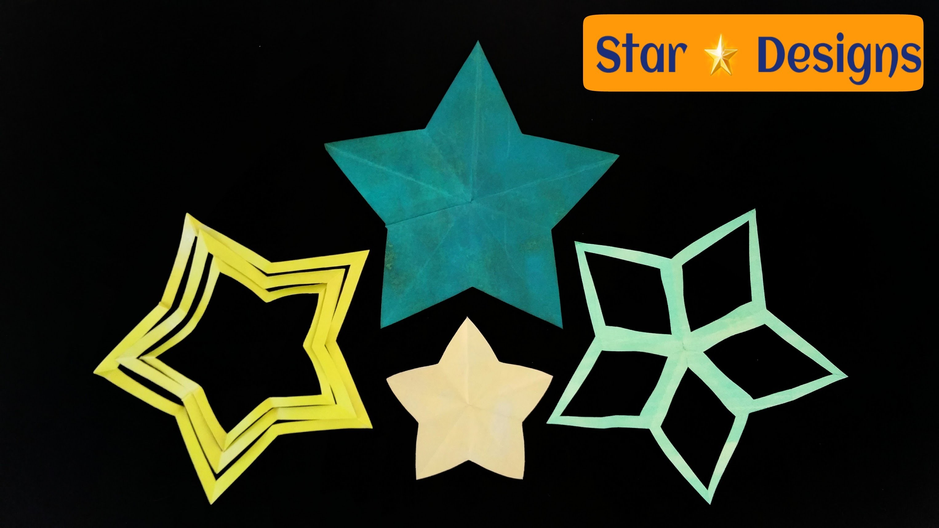 "How to make 3 easy amazing ""Star"