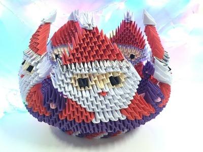 How to make 3D origami Bowl Santa Claus - part 3
