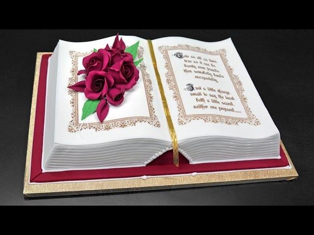 How to Make a 3D Book Cake