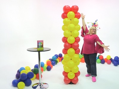How To Make a Balloon Column in a Diamond Pattern