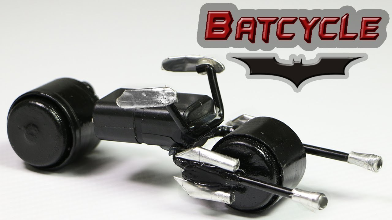 """How To Make A Batman Motorcycle - """"Batcycle Toy"""""""