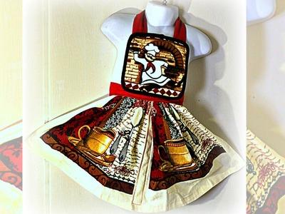 How To Make A Child's Apron (Dish Towel Pot Holder Apron)