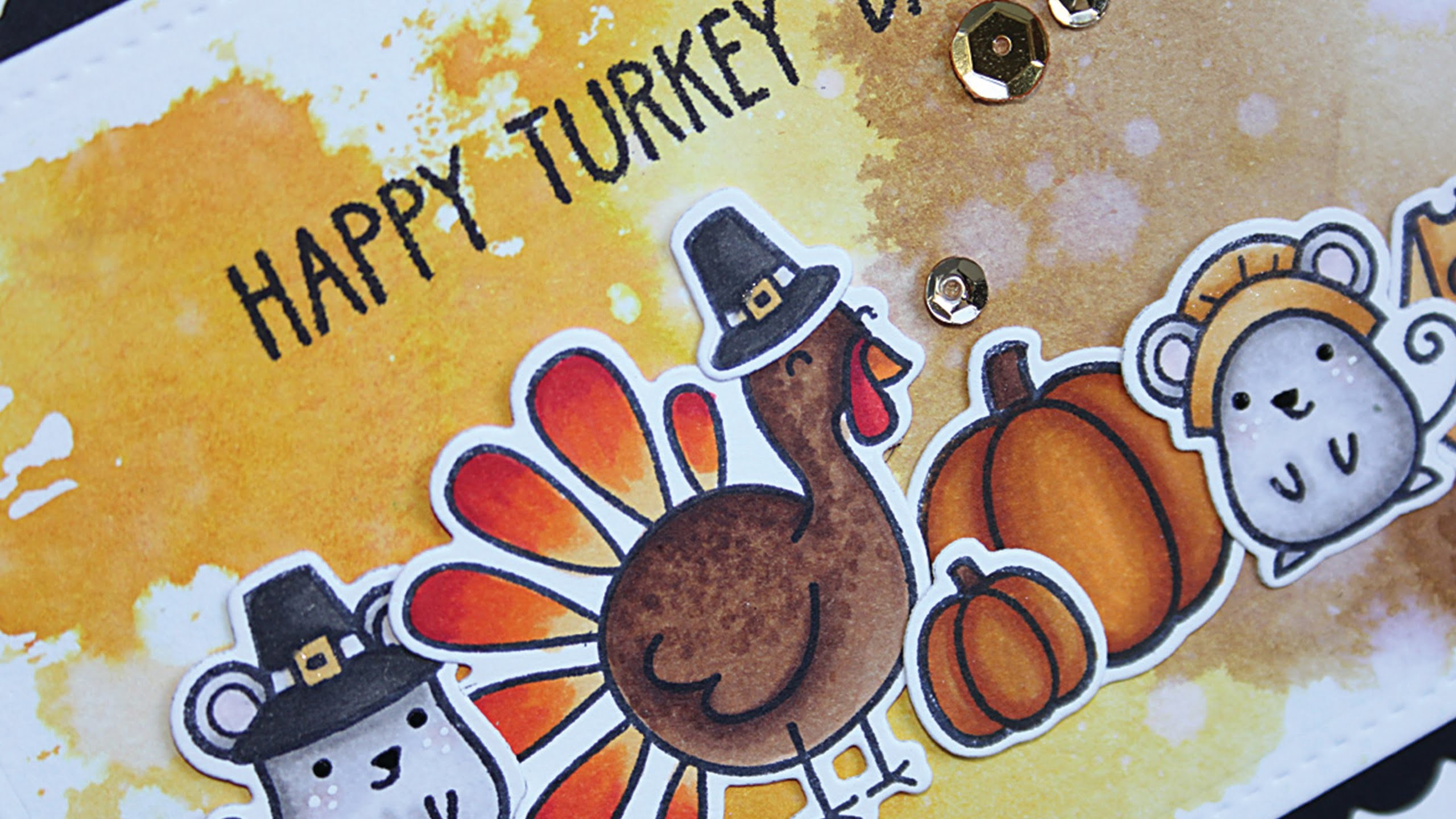 How to make a cute Thanksgiving card
