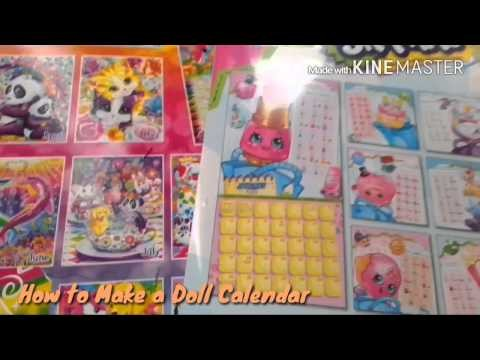 How to Make a Doll Calendar In 1 Minute - Doll Crafts