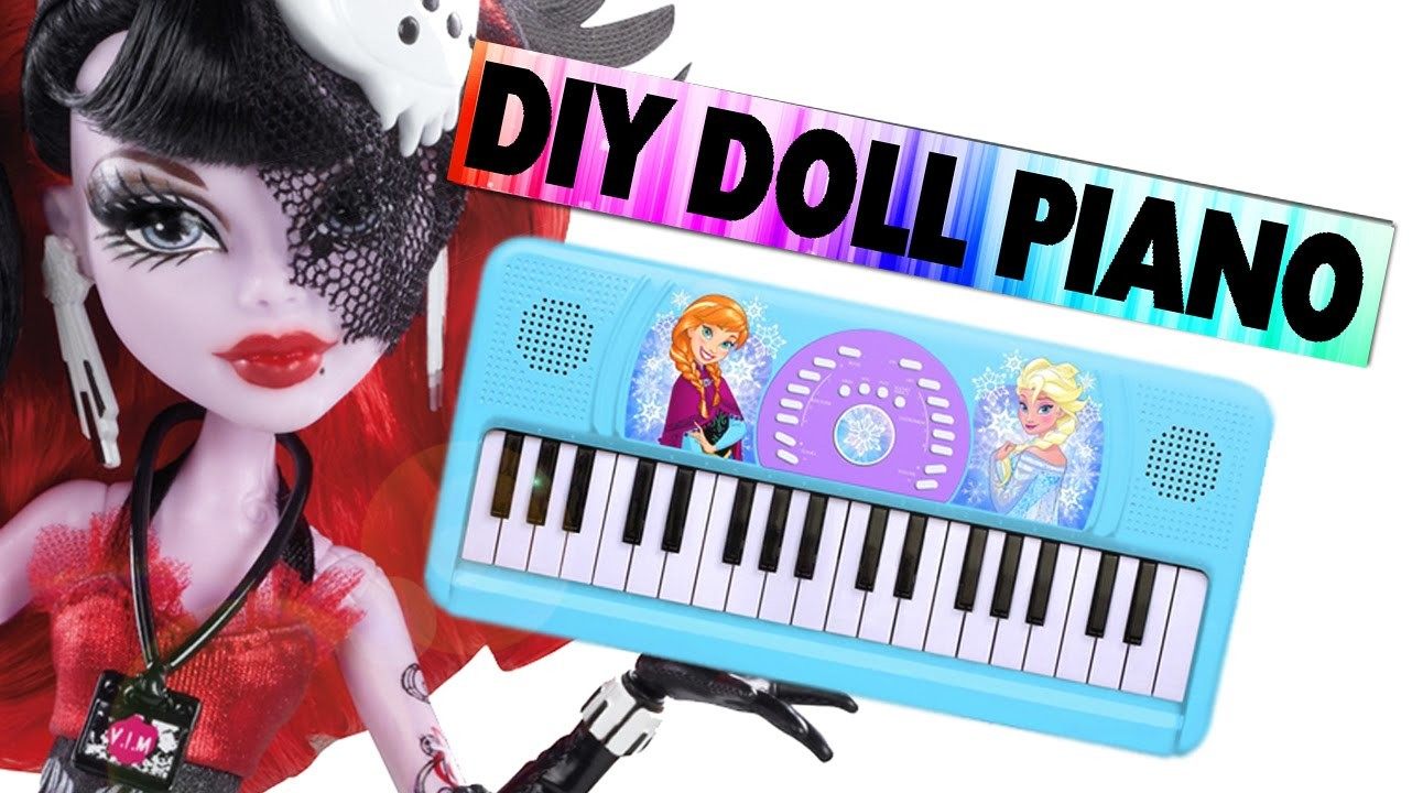 How to make a Doll Piano. Keyboard - Easy Doll Crafts