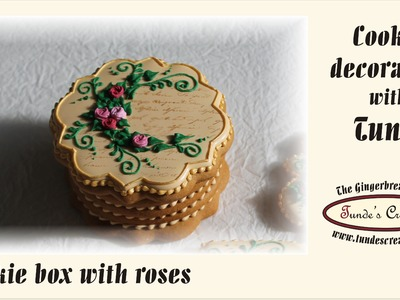 How to make a gingerbread gift box with roses