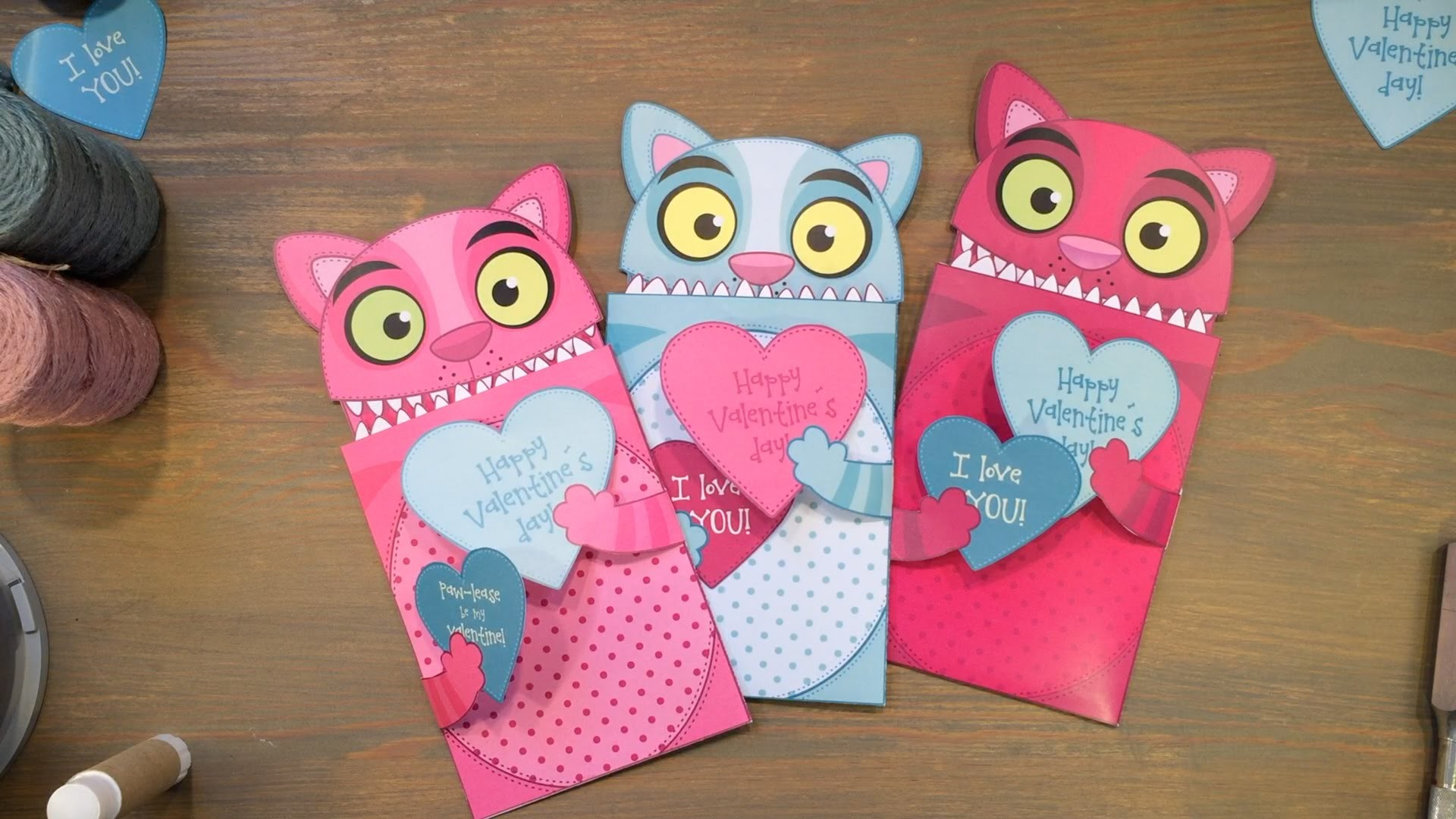 How to make a Love Cat Valentine Card!