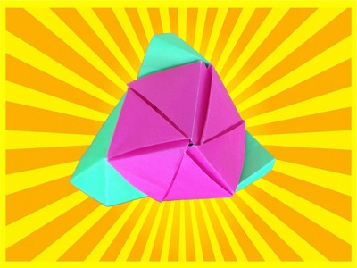 How To Make A Magic Origami Cube Rose Easy - DYI Simple Origami Rose Tutorial
