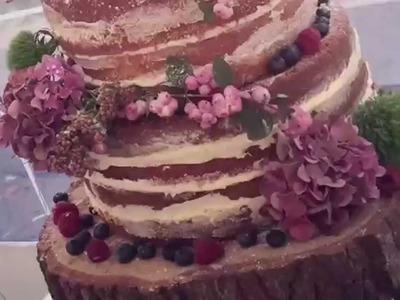 How to Make a Naked Cake - Naked Wedding Cake