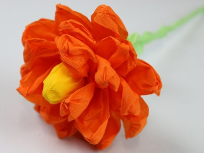 How to make a Paper Flower (Paper Crepe Flower)